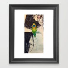 Feather Girl Framed Art Print