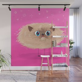 Star Cat Wall Mural