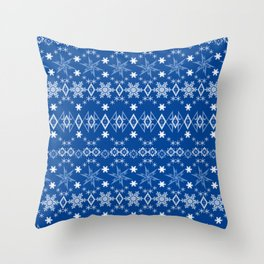Blue Christmas ornament 2 Throw Pillow