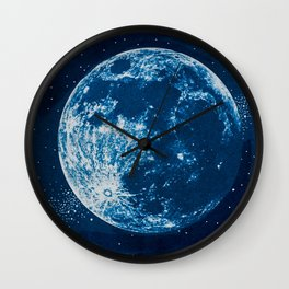 Big Blue Moon Wall Clock