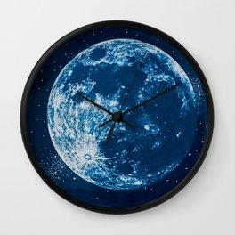 Big Blue Moon Wall Clock