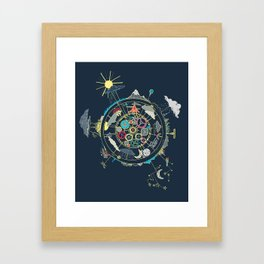 Running Like Clockworld Framed Art Print