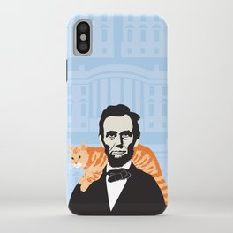 Abe Lincoln the first president to bring a cat to the White House iPhone Case