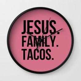 Jesus   Family   Tacos Wall Clock