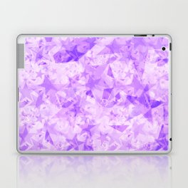 Pastel purple stars on a light background in the projection. Laptop & iPad Skin