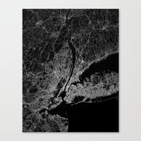 new york map Canvas Prints featuring New York map by Line Line Lines