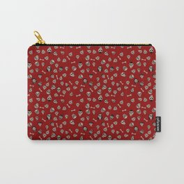 Skull Town (on Hell-Fire Red Background) Carry-All Pouch