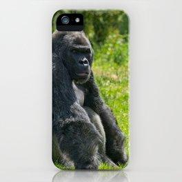 Gorilla Having A Rest iPhone Case