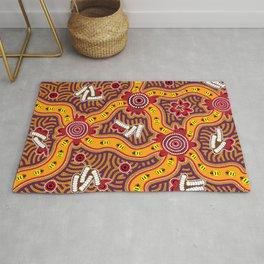 Authentic Aboriginal Art - Bush Tucker Rug