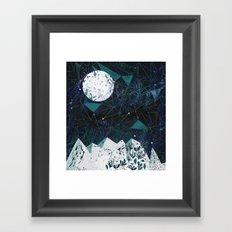 winter geometry Framed Art Print