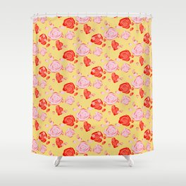 Roses pattern 3b Shower Curtain