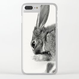 Rabbit Animal Photography Clear iPhone Case