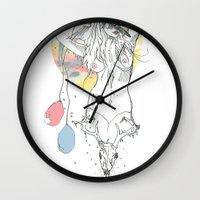 birthday Wall Clocks featuring birthday by Cassidy Rae Marietta
