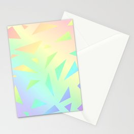 Pastel Gradient Design with Pastel Ombre Triangles! Stationery Cards