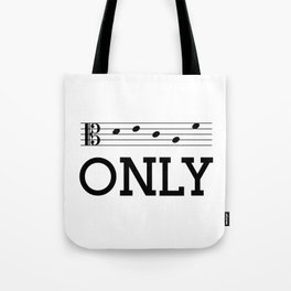 Decaf only (alto version) Tote Bag