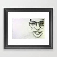 JAZMIN. Framed Art Print