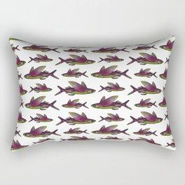 Flying Fish Pattern | Vintage Flying Fish Pattern | Rectangular Pillow