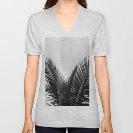 Coconut palm fronds Unisex V-Neck