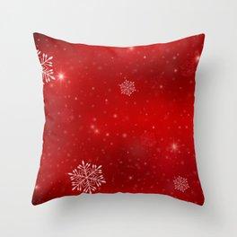 Red magic christmas Throw Pillow