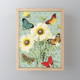 Fly Butterflies Margarita Framed Mini Art Print