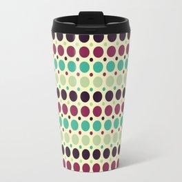 Peacock Polka Dot Pattern Travel Mug