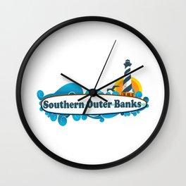 Southern Outer Banks - North Carolina. Wall Clock