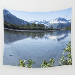 Placer River at the Bend in Turnagain Arm, No. 1 Wall Tapestry