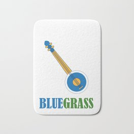 Awesome Banjo's Tshirt Design Keep on the blue grass Bath Mat