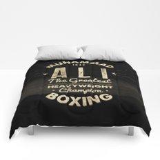 Boxing Ali Canvas Comforters