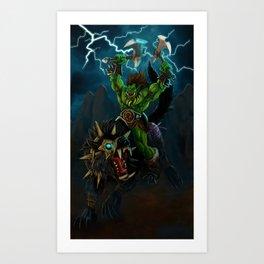 Blood and Thunder Art Print