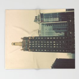 Carbide and Carbon Building Chicago Throw Blanket