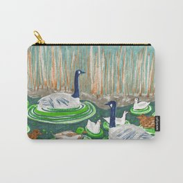 Water Friends drawing by Amanda Laurel Atkins Carry-All Pouch