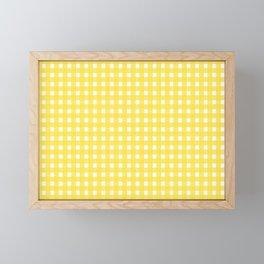 Buttercup Checkered Framed Mini Art Print