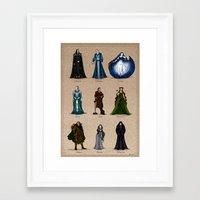 valar morghulis Framed Art Prints featuring The Aratar by wolfanita