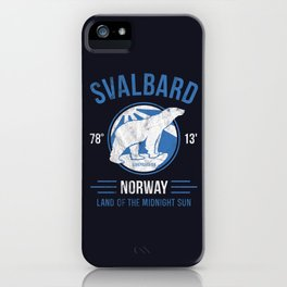 Svalbard Arctic Polar Bear - Midnight Sun in Longyearbyen Norway iPhone Case