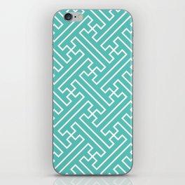 Lattice - Turquoise iPhone Skin