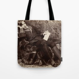 Oscar Wilde Lounging Portrait Tote Bag