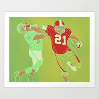 "49ers Art Prints featuring 49ers ""Frank"" Gore by Courtney Charlton"