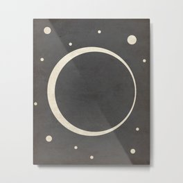 Eclipse- Space is Hot Metal Print