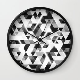 amped (monochrome series) Wall Clock
