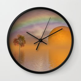 when the moon touched earth -13- Wall Clock