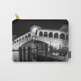 VENICE Rialto Bridge at Night | Monochrome Carry-All Pouch