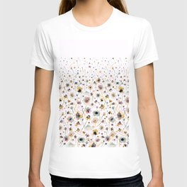 Wild flowers sunshine gold T-shirt