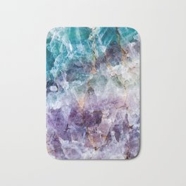 Turquoise & Purple Quartz Crystal Bath Mat
