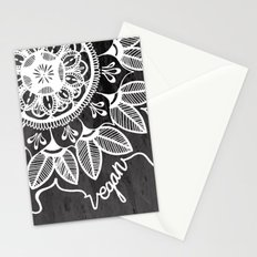Vegan Mandela drawing Stationery Cards