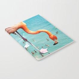 Flamingos on the Beach #society6 #decor #buyart Notebook