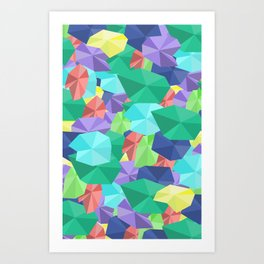 Jewel pattern rework Art Print