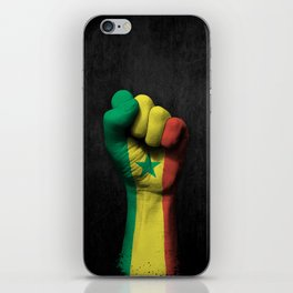 Senegal Flag on a Raised Clenched Fist iPhone Skin