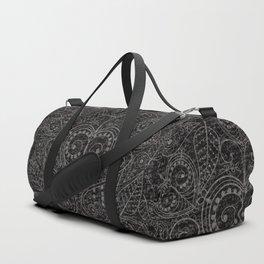 Rustic Leaf Art Duffle Bag
