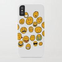 emoji iPhone & iPod Cases featuring Emoji Family by Jason Travis
